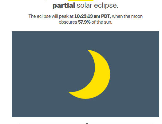 Solar Eclipse – Yes, Safety Glasses will be provided