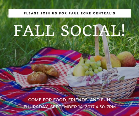 Fall Social – Thursday, September 14th