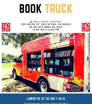 Spanish Book Truck October 20th!