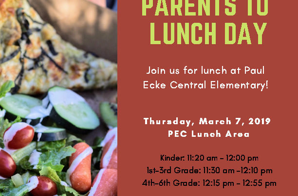 Bring Your Parents to Lunch Day – March 7th